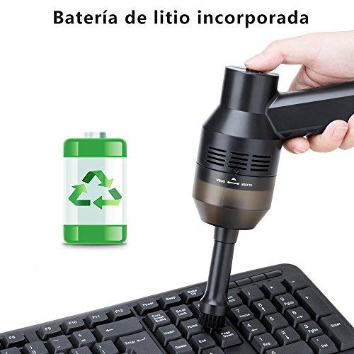 Wonyered Aspirador Teclado de Mano Poderoso Inalámbrico Recargable con Li-batería para Computadora Notebook y Coche