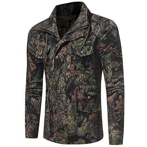 FRAUIT Herren Tarnung Sweatshirt Herbst Winter Männer Outdoor Dschungel Feld Shirt Camouflage Sweatjacke Gute Schutzleistung Top Coat M-3XL