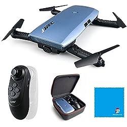 JJRC H47 ELFIE Plus Quadcopter 720P WIFI FPV Doblador Selfie Drone con sensor de gravedad Modo sin cabeza Modo de retención de altitud RTF - Azul