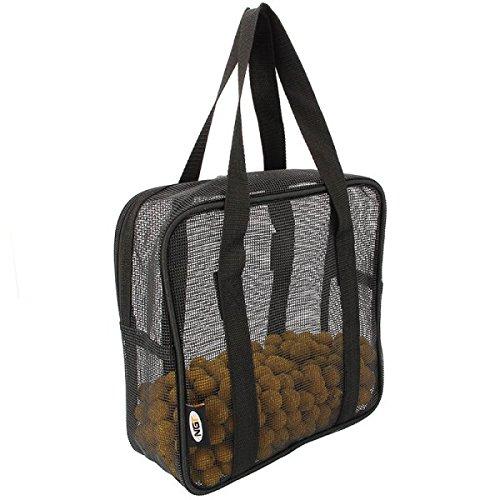NGT Unisex steif Air Dry Boilie Bag für Karpfen Angeln, Schwarz, 26x 9x 26cm