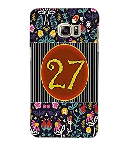 PrintDhaba Numerology Number 27 D-3116 Back Case Cover for SAMSUNG GALAXY NOTE 5 (Multi-Coloured)