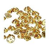 Ultnice - 50broches papillon en laiton - Fermoirs de rechange - Coloris doré