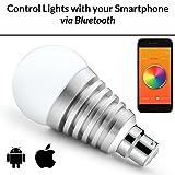 Mansaa MAA01-9W2080H0B22 SmartShine Base B22 9-Watt Bluetooth Wireless LED Bulb (Silver)