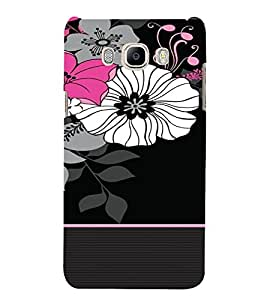 PrintVisa Flower Pattern 3D Hard Polycarbonate Designer Back Case Cover for Samsung Galaxy On8