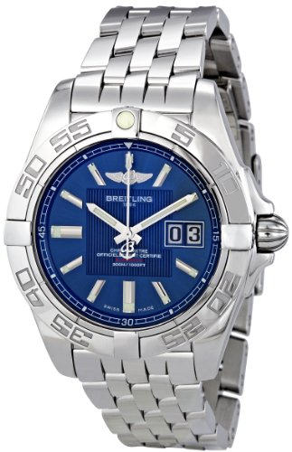 Breitling Men's A49350L2/C806SS Galactic 41 Blue Dial Watch
