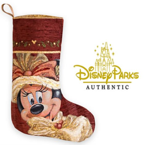 2013 Deluxe Disney Parks Gold Christmas Stocking (Minnie Mouse)