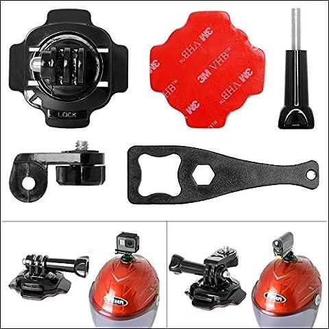 Fantaseal® Casque Fixation Kit, Universel 5en1 Caméra Sport Support Casque Mount pour Gopro Casque Accessoire Gopro Casque Fixation GoPro Hero 5 / 4/3+/3/ Session /SONY FDR en Vélo Moto bicycle