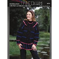 SPECTRUM 5075 KNITTING PATTERN : Ladies chunky knit tunic (32-38in) (Spectrum Inspiration Chunky & Strata Chunky)