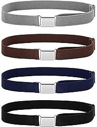 WILLBOND Cinturón elástico ajustable con hebilla para niños