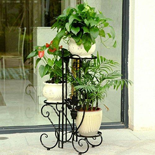 Portavasi in ferro da balcone fioriere da interno con 3 for Portavasi da balcone regolabili
