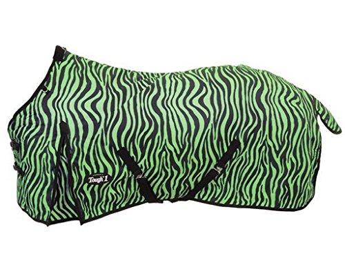 """Tough 1 Pferdedecke 600D Ripstop Poly wasserabweisend, Neon Green Zebra, 84\"""""""