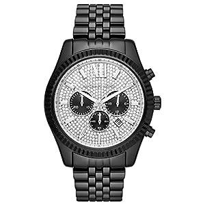 Michael Kors Herren Analog Quarz Uhr mit Edelstahl Armband MK8605