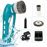 Household Handheld Battery Rechargeable Power Scrubber with Stainless Steal Brush for Barbecue Gas