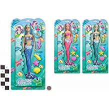 Impresionantes pequeñas muñecas sirena - Princesas con los animales de mar - 1 elegidos al azar