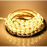 A2Z, 5Meter Flexible LED Strip Light With Adapter And Free 1 Hand Shape Led Light Keychain (WarmWhite/Yellow/Golden)