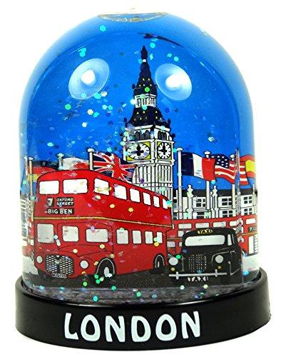 Snowstorms Schneekugel mit London-Motiv, Souvenir zum Sammeln, plastik, Big Ben - Bus - Taxi, Large