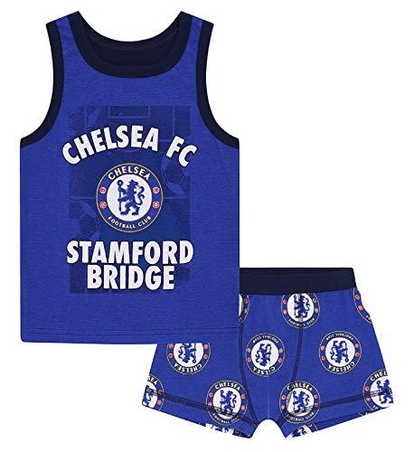 Chelsea FC - Jungen Unterwäsche-Set - Boxershorts & Unterhemd - Offizielles Merchandise - Geschenk für Fußballfans - 2-3Jahre