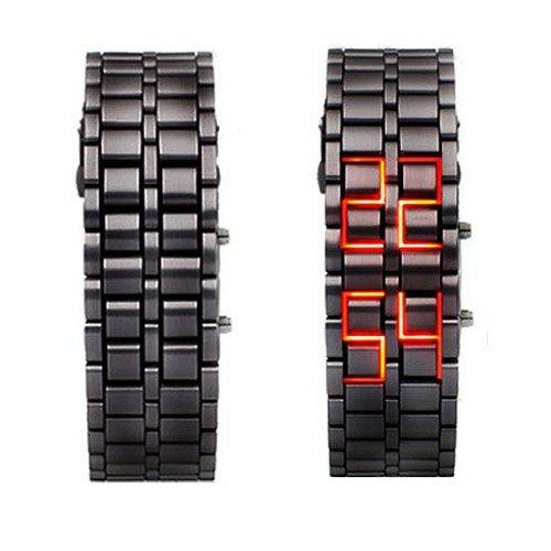 ferro-rosso-anonimo-del-paio-portato-orologio-da-polso-per-uomo-nero
