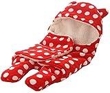 BRANDONN Newborn Sleeping Bag with Hood Cap for Babies (Red)