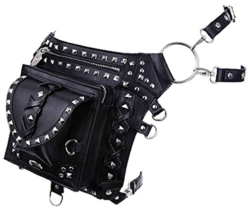 Dark Dreams Gothic Steampunk Post Apocalyptic Restyle Waistbag Holster Bag Gürtel Tasche Leg Belt Faux-Leder ()