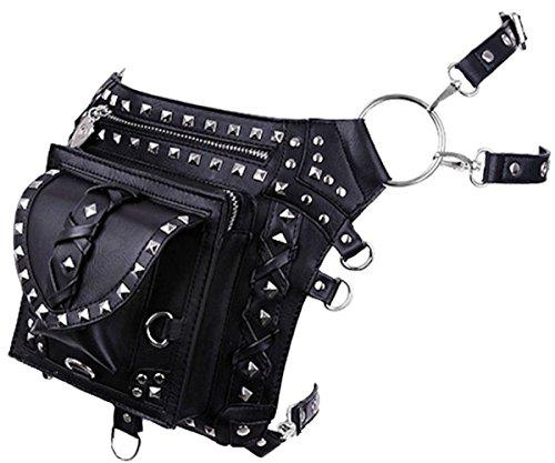 Dark Dreams Gothic Steampunk Post Apocalyptic Restyle Waistbag Holster Bag Gürtel Tasche Leg Belt Faux-Leder ()
