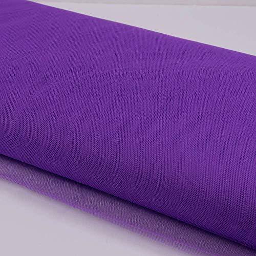 Stoffe Werning Tüll Uni einfarbig lila Meterware zum Nähen von Karnevalskostümen und Accessoires - Preis Gilt für 0,5 Meter
