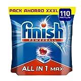 Finish Powerball All in One Max - Pastillas para el lavavajillas Todo en 1 - Formato 110 unidades