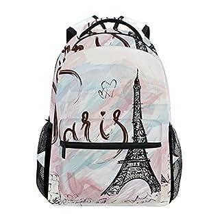 51Zk5dCIWPL. SS324  - TIZORAX Paris Eiffel Tower - Mochila para el Colegio o la Universidad, para Senderismo, Viaje, para Mujeres y Hombres