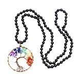Collar de piedras preciosas perlas Mala, 108 Buddhist prayer beads Collar, Collar anudadas a mano...