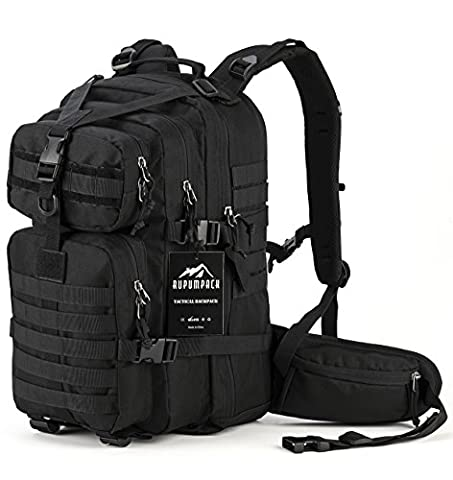 Military Tactical Assault Backpack, Hydration Backpack by RUPUMPACK, Army MOLLE Bug Out Bag, Small Rucksack for Outdoor Hiking Camping Trekking Hunting, 35L