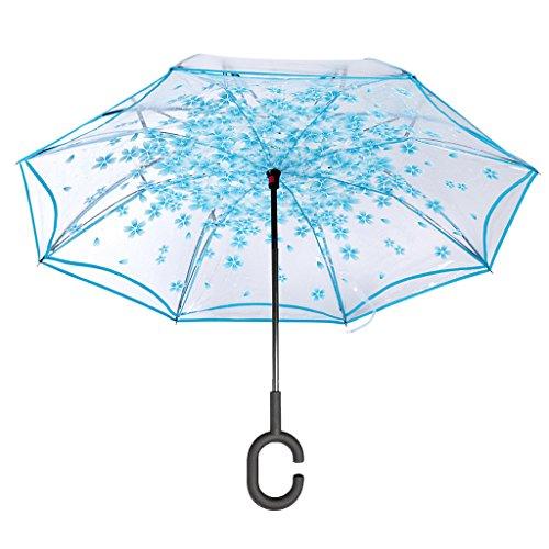 VERNASSA Invertido Paraguas C Forma Manos Libres Paraguas