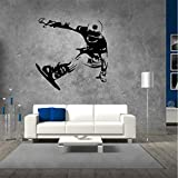 Eeemmm Skating Board Tee Wall Stickers Boys Bedroom Background Wall Decals Snowboard Skiing Wallpaper Home Decor Wall Art Mural Poster 58 * 57Cm