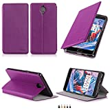 Etui luxe OnePlus 3 / OnePlus 3T violet 2016 / 2017 Ultra Slim Cuir Style avec stand...