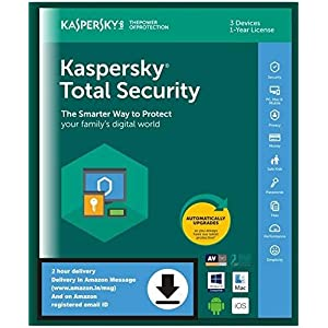 Kaspersky Total Security 3 Devices, 1 Year (Email Delivery in 2 Hours – No CD)