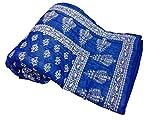 Shop Rajasthan Royal Blue Reversible Han...