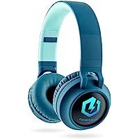 Kinderkopfhörer Bluetooth, PowerLocus Kinder Kopfhörer Over-Ear mit 85db Lautstärkebegrenzung LED-licht Faltbare HD…
