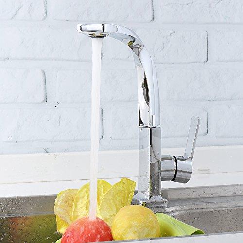 Wasserhahn Moderne Mischbatterie TAPCET Elegant Armatur Einhebel Wasserhahn Waschtischarmatur Wasserfall Einhandmischer aus 59 Kupferskörper Chrome Dunkelsilber