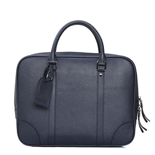 BULAGE Taschen Leder Hand Männer Dokumente Computer Leder Einfachheit Die Atmosphäre Bequem Und Schön Blue