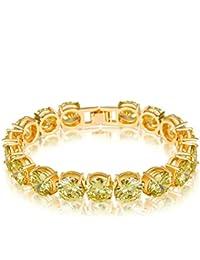 00eb675b42ec AieniD Joyas de Moda Pulsera Mujer Joven Champán Cz Brazalete de Oro para  las Mujeres