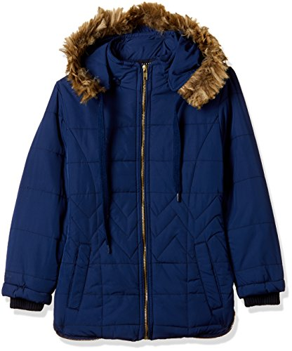 Fort Collins Girls' Regular Fit Synthetic Jacket (r1087_Navy_28 (8 - 9 years))