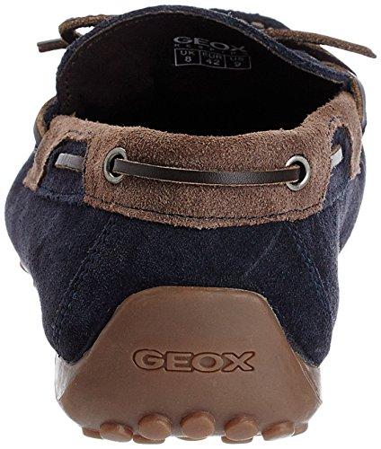 Geox U Snake Moc I, Mocassins homme Bleu (Dk Navy/Ebony)