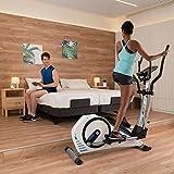 BH Fitness Crosstrainer Ellipsentrainer AZZURE-14 kg Schwungmasse-bis 125 kg Nutzergewicht-Pulsprogramme-Wattprogramm-24 Widerstandsstufen-G2362 - 4