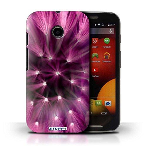 Kobalt® Imprimé Etui / Coque pour Motorola Moto E (2014) / Vert conception / Série Couleur/Lumière Fleur Rose