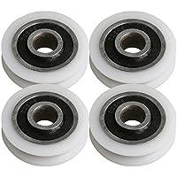 BQLZR 21x5x6mm tipo U gu¨ªa de rodamiento de bolitas ruedas de la polea rodillo de carga rodamiento 35 KG para la ventana de la puerta gabinete paquete de impresora de 4