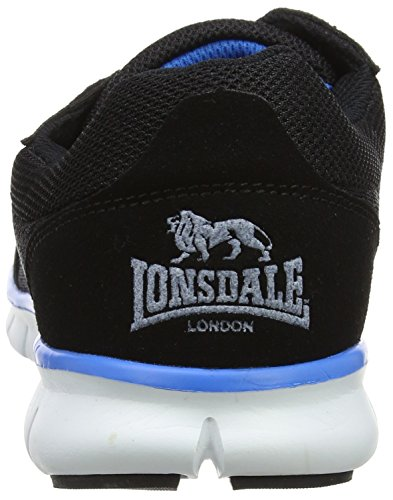 Lonsdale Southwick, Chaussures Multisport Outdoor Homme Noir (Black/white/blue)