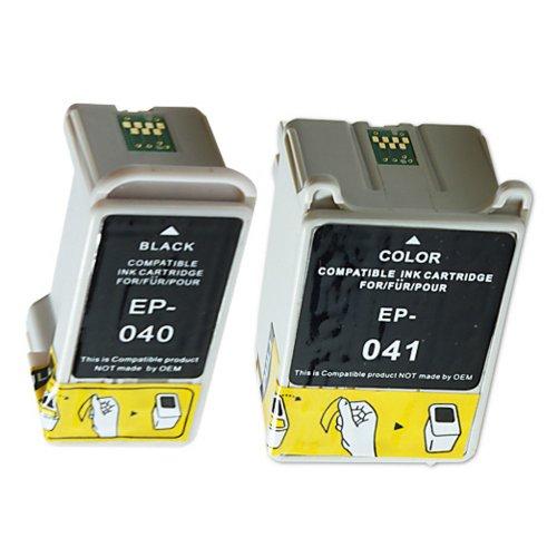 3 Druckerpatronen Tinte für Epson Stylus C62 CX3200 ersetzen Epson T040 und...