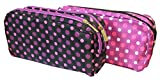 1 x Dots double zip Pencil Case (colore casuale)