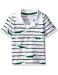 Gymboree Baby Boys'' Striped Polo Shirt with Alligator
