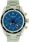 ZAZA London MMB234 pnp/Blue - Reloj para Hombres, Correa de Metal Color Plateado