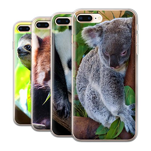 Coque Gel TPU de Stuff4 / Coque pour Apple iPhone 4/4S / Girafe Design / Animaux sauvages Collection Multipack Ours